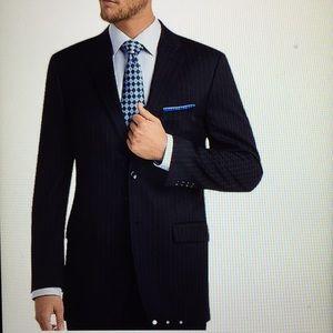 Jones New York Wool Pin Stripe Sport Coat Blazer